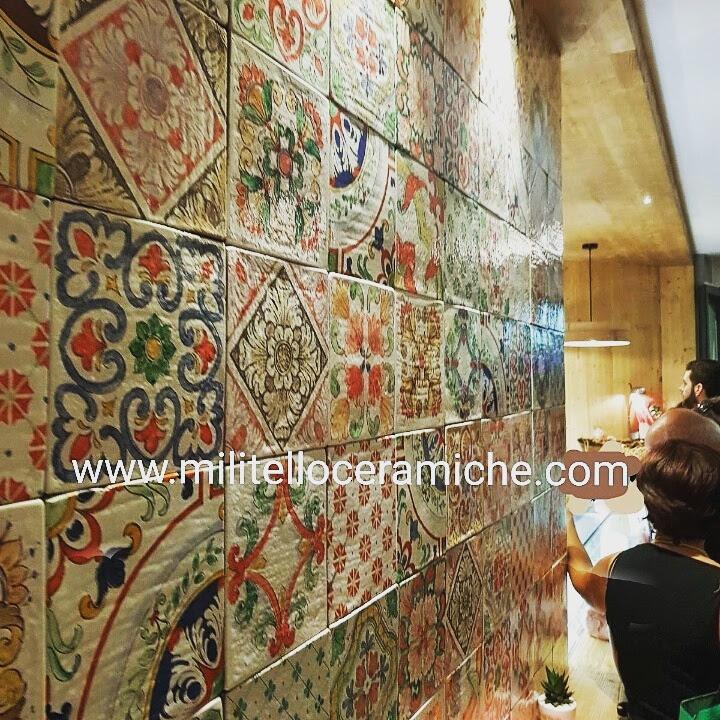 Pavimenti e rivestimenti in maiolica decorati a mano piastrelle siciliane piastrelle decorate - Piastrelle siciliane decorate ...